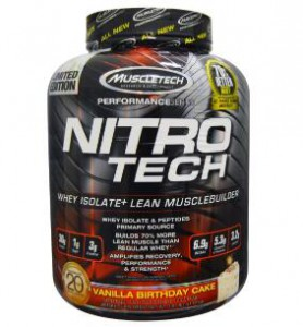 Muscletec Nitro-Tech乳清蛋白增肌粉